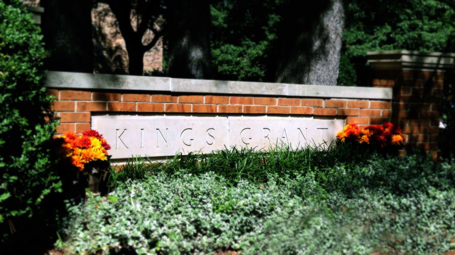 Kings Grant neighborhood sign placed at the entry of Lakewood Hills #2